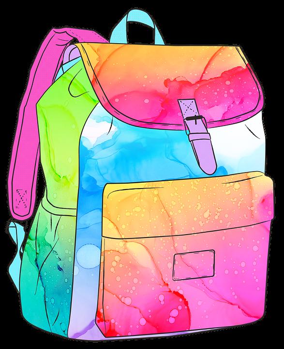 Światełka led w plecaku